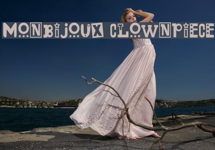 Monbijoux Clownpiece Fonte examples