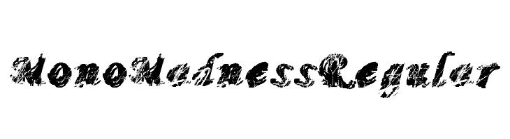 MonoMadnessRegular  Free Fonts Download