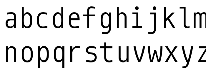Monoid Normal Font LOWERCASE