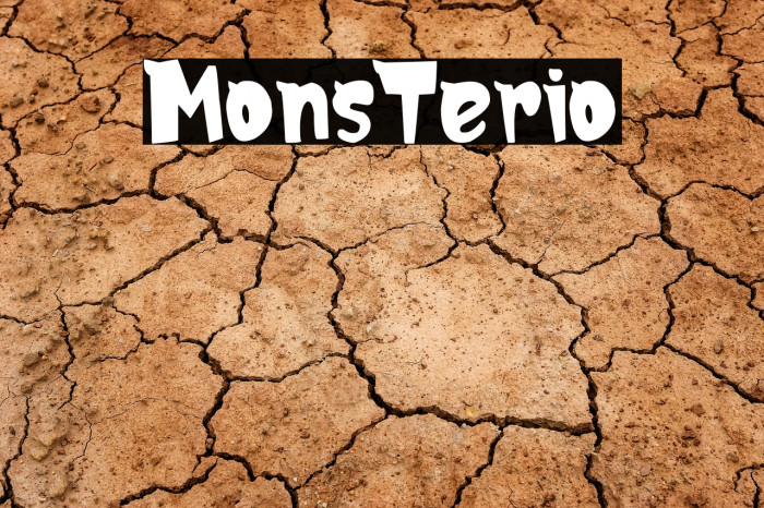 MonsTerio Font examples