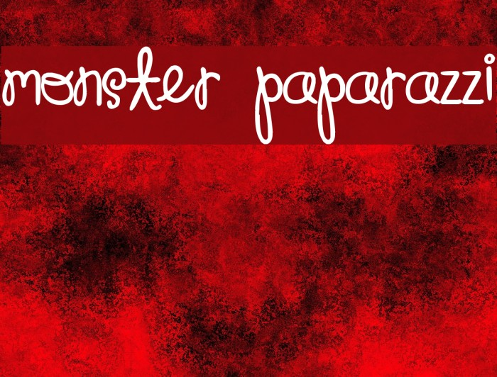 Monster Paparazzi Font examples
