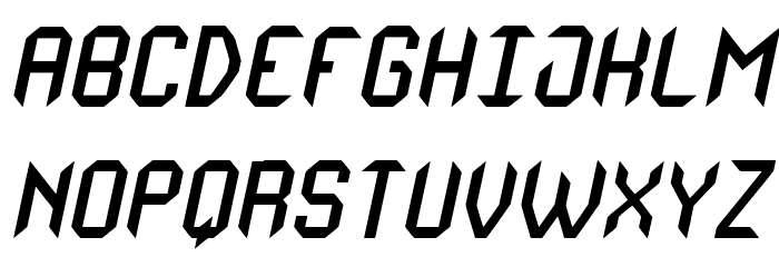 Monster oF South St Italic Font UPPERCASE