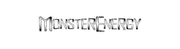 Monster energy logo vector.