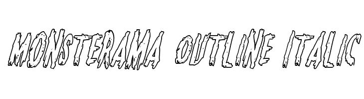 Monsterama Outline Italic  baixar fontes gratis