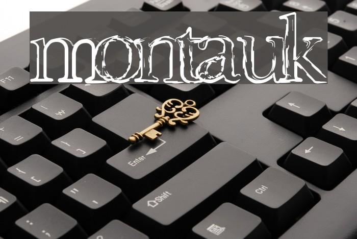 Montauk Font examples