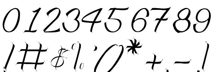 Monte Cristo Schriftart Anderer Schreiben