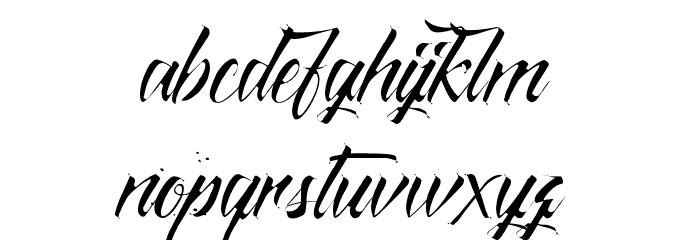 Monte Cristo Schriftart Kleinbuchstaben