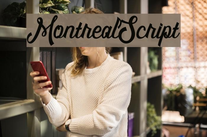 MontrealScript Font examples