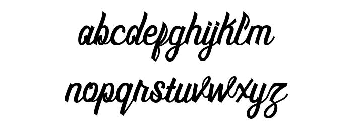 MontrealScript Font Litere mici