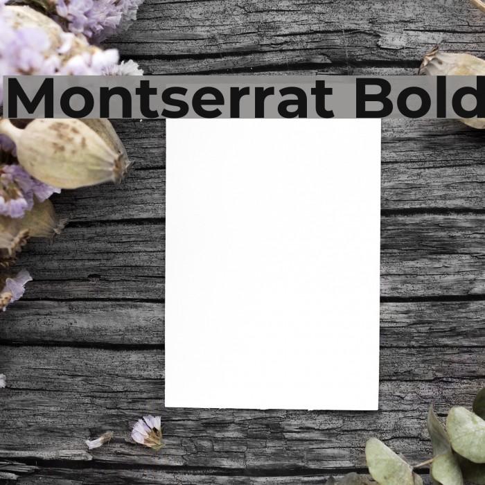 Montserrat Bold Font examples