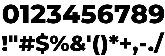 Montserrat ExtraBold Font OTHER CHARS