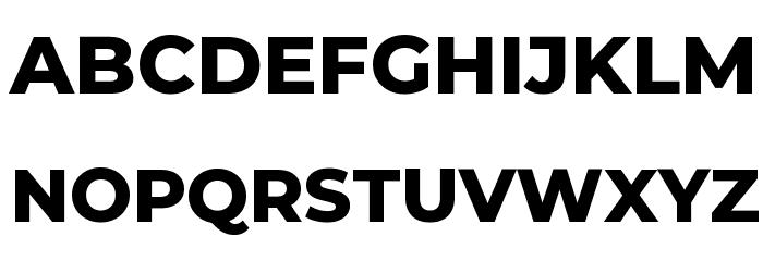 Montserrat ExtraBold Font UPPERCASE