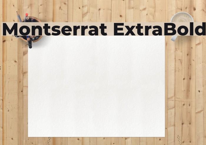 Montserrat ExtraBold Font examples