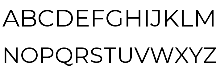 Montserrat Regular Font UPPERCASE