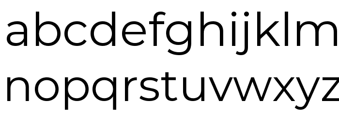 Montserrat Regular Font LOWERCASE