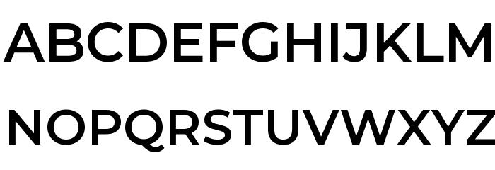 Montserrat SemiBold Font UPPERCASE