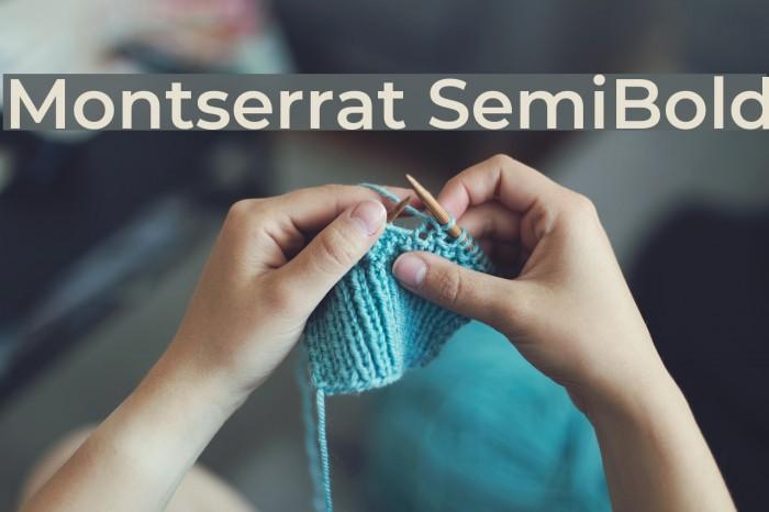 Montserrat SemiBold Font examples