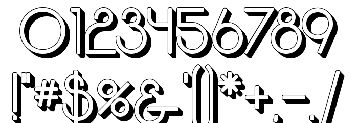 Moodyrock Extrude SemiBold Font OTHER CHARS