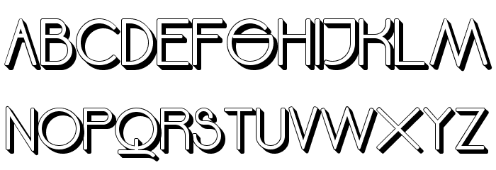 Moodyrock Extrude SemiBold Font UPPERCASE