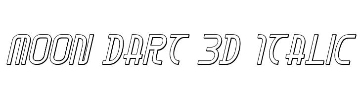 Moon Dart 3D Italic  Free Fonts Download