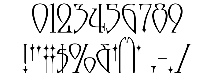 Moonstone Font OTHER CHARS