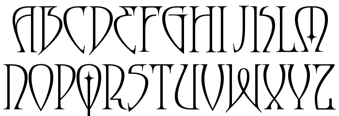 Moonstone Font UPPERCASE