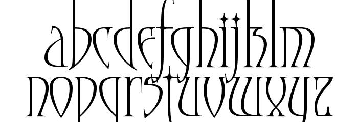 Moonstone Font LOWERCASE