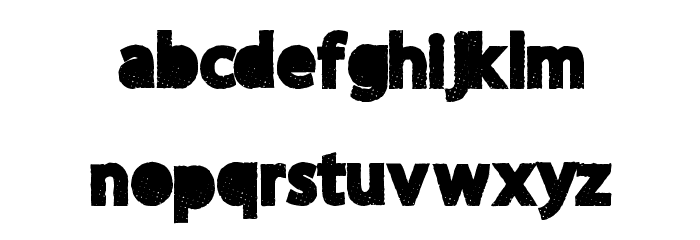 MoreParty Font LOWERCASE