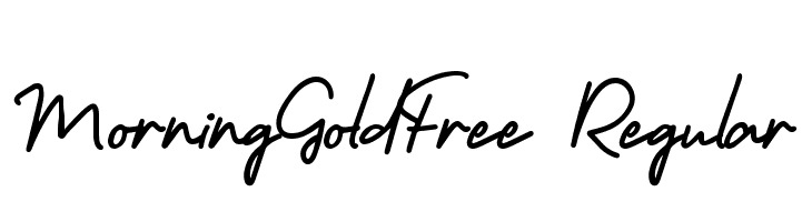 MorningGoldFree-Regular  Free Fonts Download