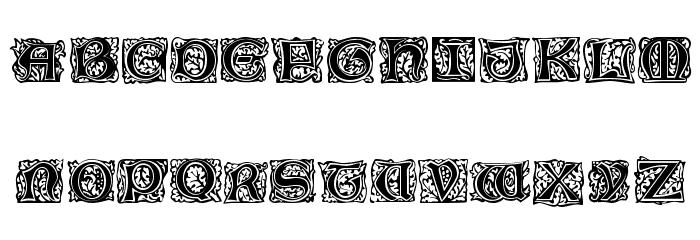 Morris Initialen Font UPPERCASE