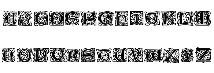 Morris Initialen Font LOWERCASE