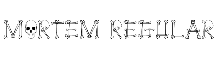 Mortem Regular  Free Fonts Download