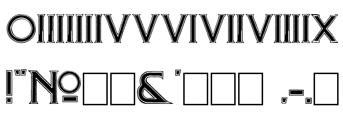 Mosaic Font OTHER CHARS