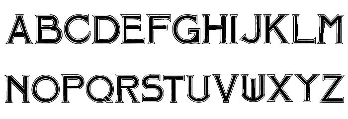 Mosaic Font UPPERCASE