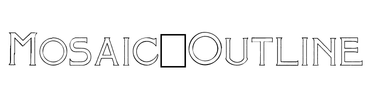 Mosaic_Outline  Free Fonts Download