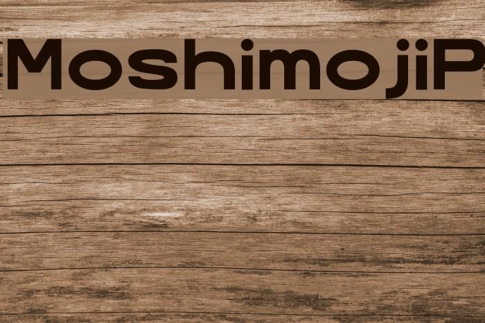 MoshimojiP Шрифта examples