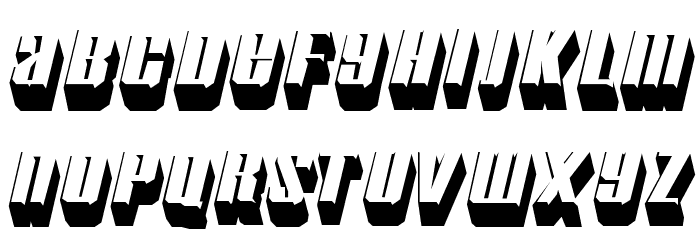 Motorcade Font LOWERCASE