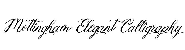 Mottingham Elegant Calligraphy Font Free Fonts Download