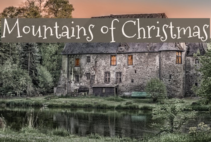 Mountains of Christmas Font - FFonts.net
