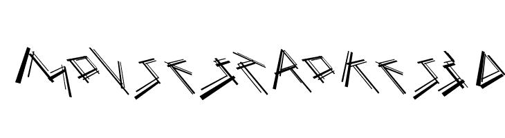 MouseStrokes3D  font caratteri gratis