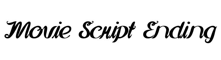 Movie Script Ending  font caratteri gratis