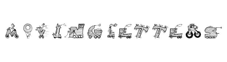 MovingLetters  नि: शुल्क फ़ॉन्ट्स डाउनलोड