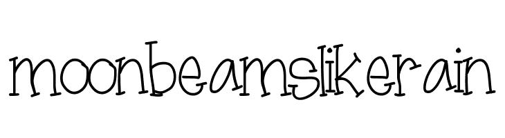 moonbeamslikerain  Free Fonts Download