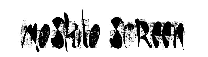 moskito screen  baixar fontes gratis