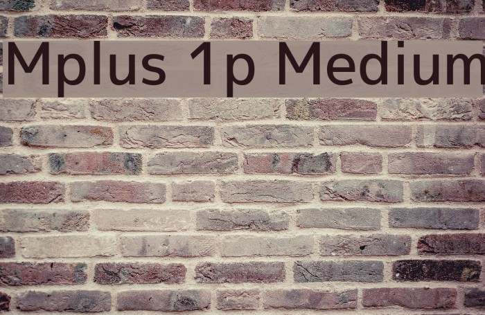 Mplus 1p Medium Fonte examples