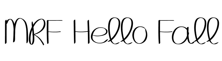 MRF Hello Fall Fonte pt - free fonts download