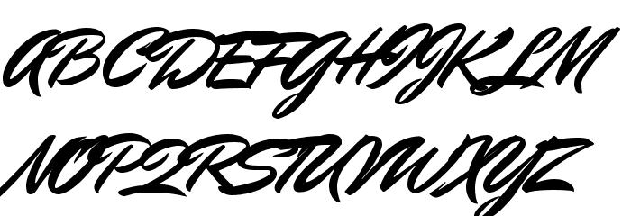 Mr Dafoe Regular Font UPPERCASE
