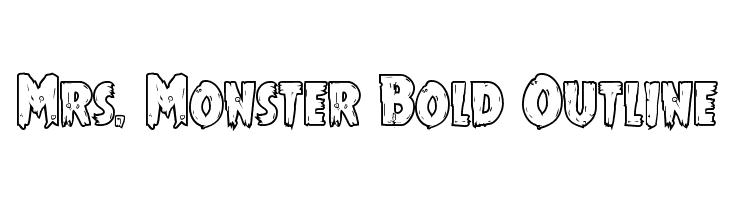 Mrs. Monster Bold Outline  Free Fonts Download