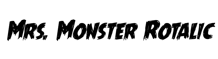 Mrs. Monster Rotalic  Free Fonts Download