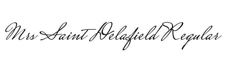 Mrs Saint Delafield Regular  Free Fonts Download